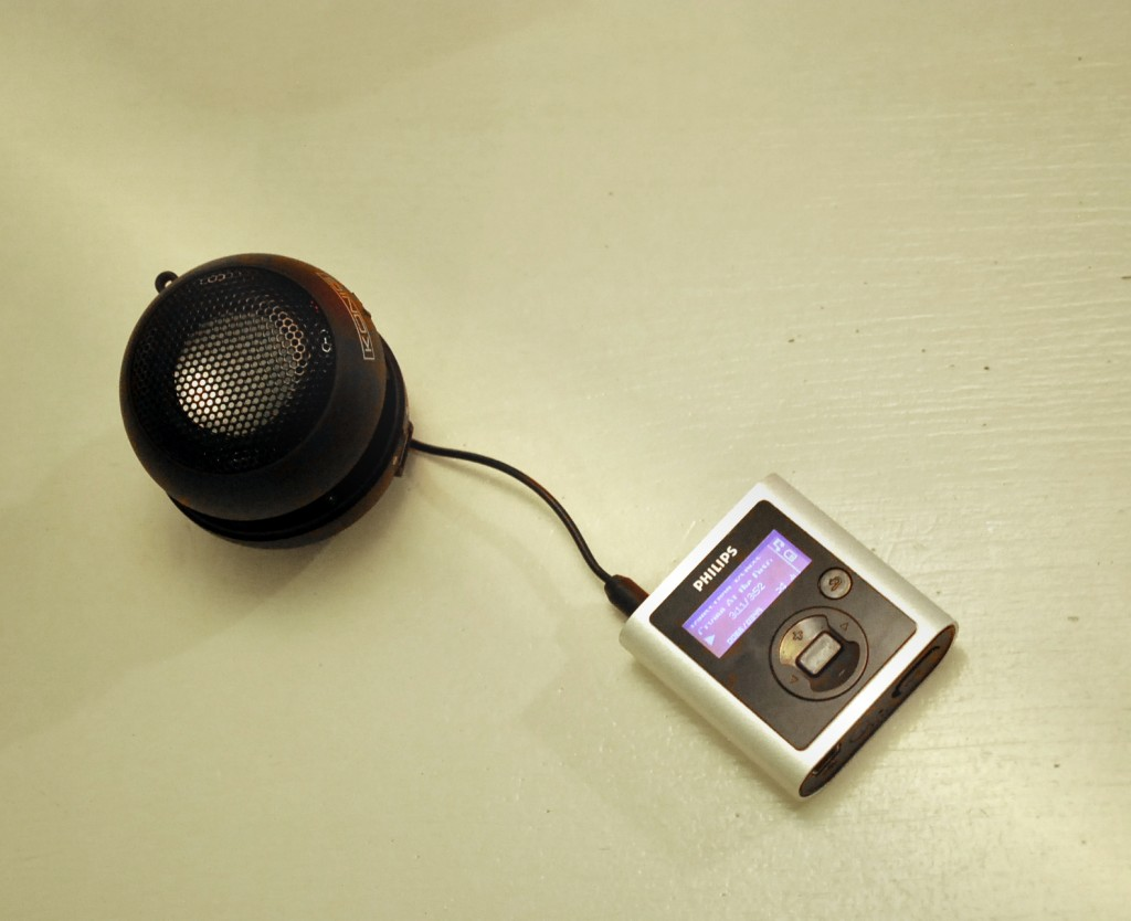 MP3 player and speaker